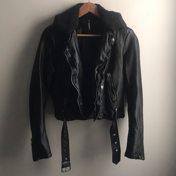 Free People Jackets & Blazers - Free People Ashville vegan leather moto jacket